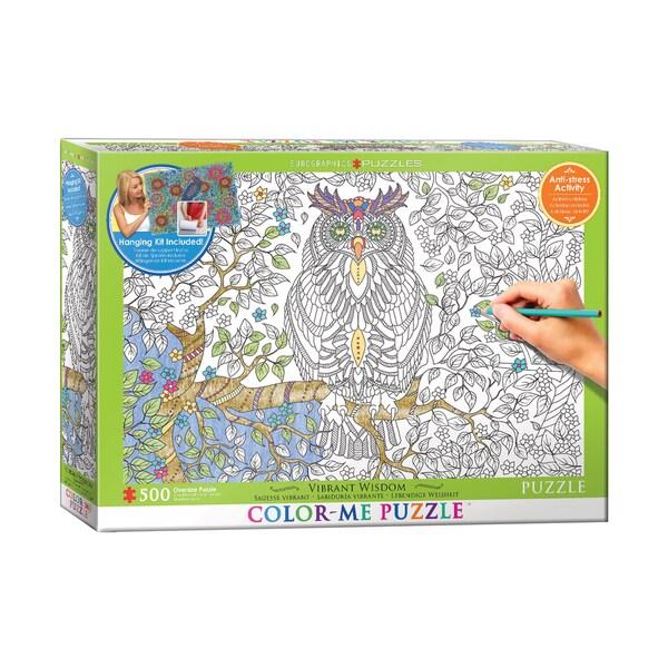 Color-Me Puzzle - Vibrant Wisdom: 500 Pcs