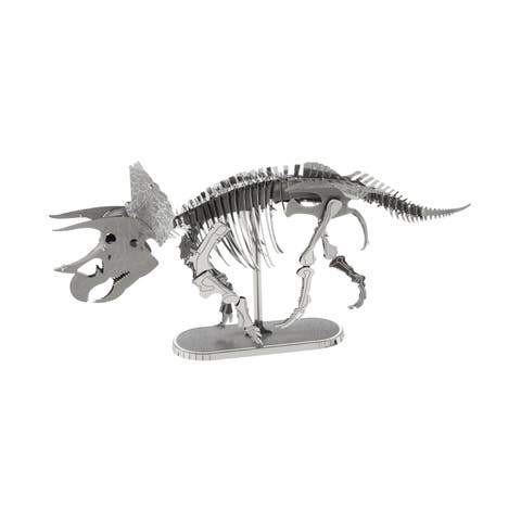 Metal Earth 3D Laser Cut Model - Triceratops - Silver