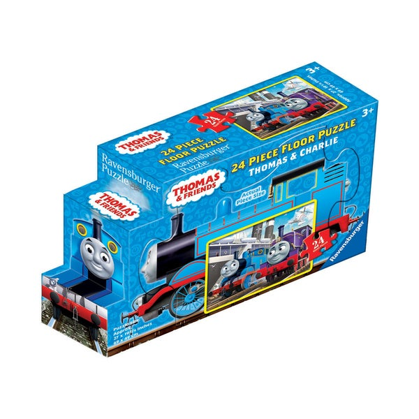 Thomas & Friends - Thomas & Charlie Floor Puzzle in a Shaped Box: 24 Pcs