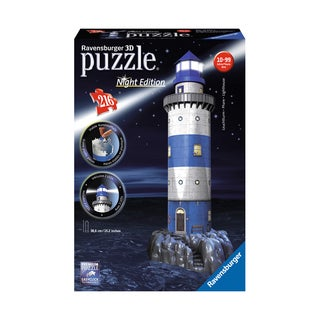 3D Puzzle - Lighthouse - Night Edition: 216 Pcs