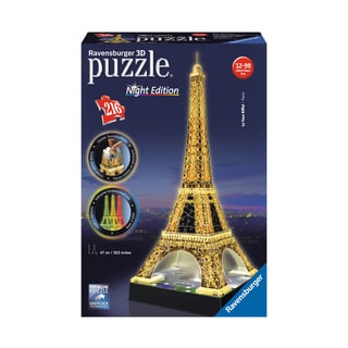 3D Puzzle - Eiffel Tower - Night Edition: 216 Pcs