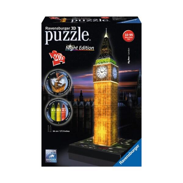 3D Puzzle - Big Ben - Night Edition: 216 Pcs