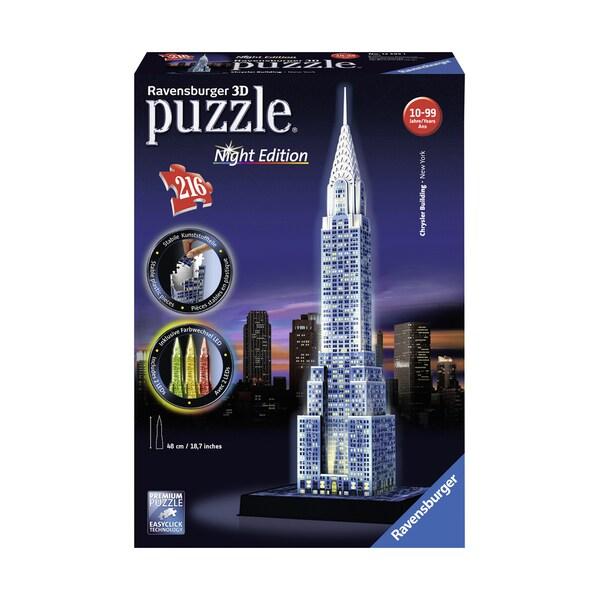 3D Puzzle - Chrysler Building - Night Edition: 216 Pcs