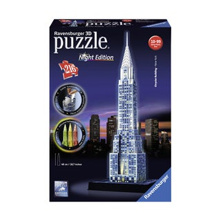 3D Puzzle - Chrysler Building - Night Edition: 216 Pcs