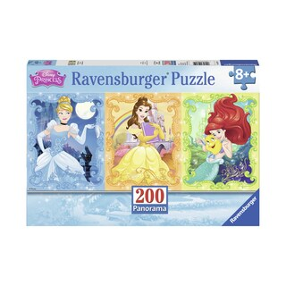 Beautiful Disney Princesses Panoramic Puzzle: 200 Pcs