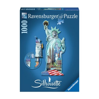 Silhouette Shaped Puzzle - Statue of Liberty, New York: 1000 Pcs
