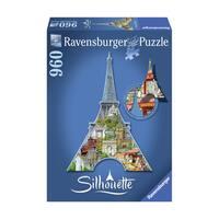 Silhouette Shaped Puzzle - Eiffel Tower, Paris: 960 Pcs