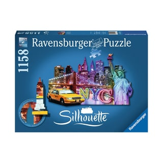 Silhouette Shaped Puzzle - NYC Skyline: 1158 Pcs