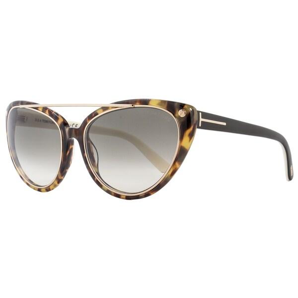 cd469379dbd5 Shop Tom Ford TF384 Edita 56B Women s Tortoise Black Gold Rose Green  Gradient Lens Sunglasses - Free Shipping Today - Overstock - 15615119