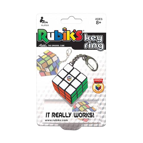 Rubik's Key Ring - Red/Green