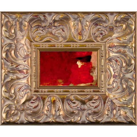 Gustav Klimt 'Dame im Fauteuil' (Lady in an Armchair) Pre-Framed Miniature Print on Canvas