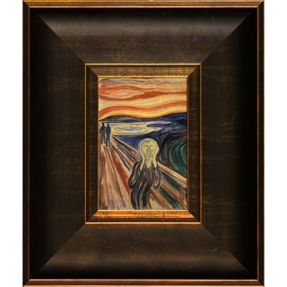 Edvard Munch 'The Scream' Pre-Framed Miniature Print on Canvas