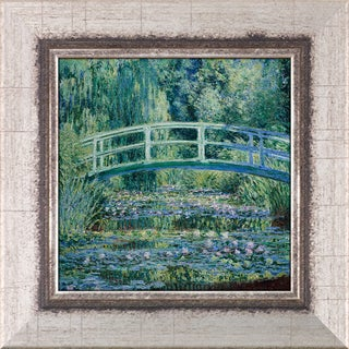 Claude Monet 'Water Lilies and Japanese Bridge' Pre-Framed Miniature Print on Canvas