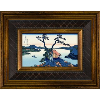 Katsushika Hokusai 'Lake Suwa in the Shinano Province' Pre-Framed Miniature Print on Canvas