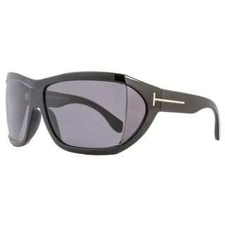 Tom Ford TF402 Sedgewick 01A Women's Shiny Black/Dark Grey Lens Sunglasses
