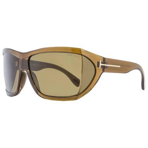 Tom Ford TF402 Sedgewick 48E Women's Transparent Brown/Roviex Lens Sunglasses