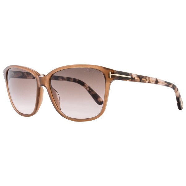 1f7c10d8b7aed Shop Tom Ford TF432 Dana 45F Women s Opal Brown Rose Rose Brown Gradient  Lens Sunglasses - Free Shipping Today - Overstock - 15615217