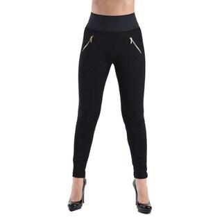 High Waisted Elastic 2-Zipper Pocket Legging Pants|https://ak1.ostkcdn.com/images/products/15615361/P22048948.jpg?_ostk_perf_=percv&impolicy=medium