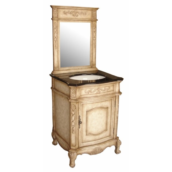 Verona 24 Traditional Bathroom Vanity Set With Top and Mirror