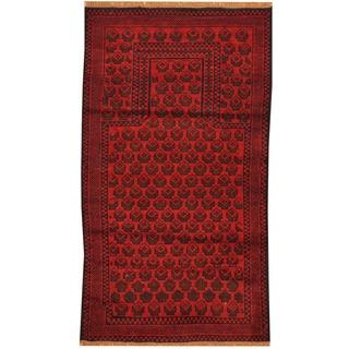 Herat Oriental Afghan Hand-knotted Tribal Balouchi Wool Rug (2'8 x 4'10)