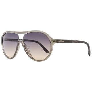 Tom Ford TF443 Edison 20B Women's Transparent Grey/Beige/Grey Gradient Lens Sunglasses
