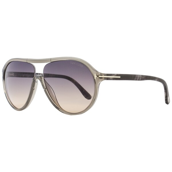 7a1a973fb44 Shop Tom Ford TF443 Edison 20B Women s Transparent Grey Beige Grey Gradient Lens  Sunglasses - Free Shipping Today - Overstock - 15615722
