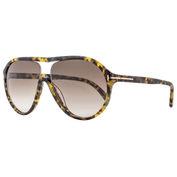 d3dc3626038 Shop Tom Ford TF443 Edison 53F Women s Tortoise Brown Gradient Lens  Sunglasses - Free Shipping Today - Overstock - 15615780