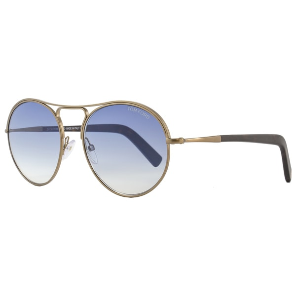 848024945b Shop Tom Ford TF449 Jessie 37W Women s Anique Brass Havana Blue Gradient  Lens Sunglasses - Free Shipping Today - Overstock - 15615874