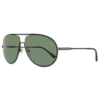Tom Ford TF450 Cliff 02N Women's Matte Black/Green Lens Sunglasses