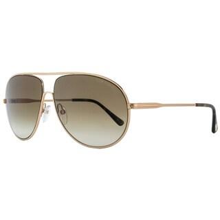 Tom Ford TF450 Cliff 28F Women's Rose Gold/Havana/Green Gradient Lens Sunglasses
