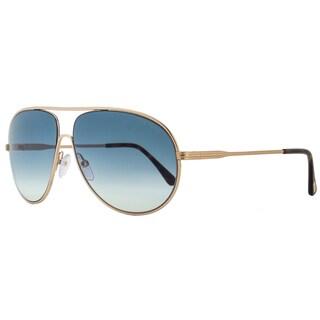 Tom Ford TF450 Cliff 28P Women's Rose Gold/Havana/Turquoise Gradient Lens Sunglasses
