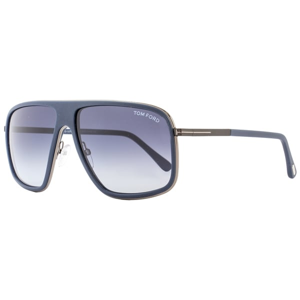 27e0f760f6f Shop Tom Ford TF463 Quentin 92W Women s Matte Navy Blue Blue Gradient Lens  Sunglasses - Free Shipping Today - Overstock - 15615905