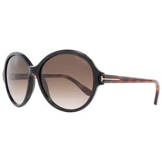 Tom Ford TF9343 Milena 05B Women's Black/Dark Havana/Brown Gradient Lens Sunglasses