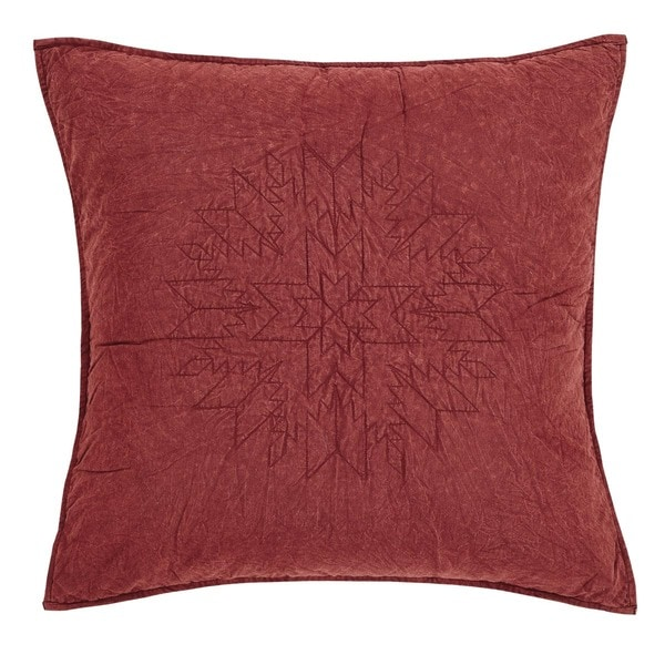 Cheyenne American Red Quilted Euro Sham
