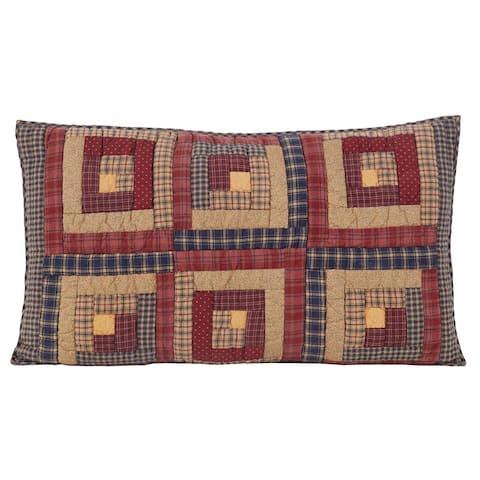Red Rustic Bedding VHC Millsboro Sham Cotton Patchwork