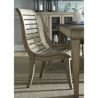 Grayton Grove Driftwood Slat Back and Seat Side Chair