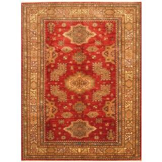 Herat Oriental Afghan Hand-knotted Tribal Super Kazak Wool Rug (6'4 x 8'4)