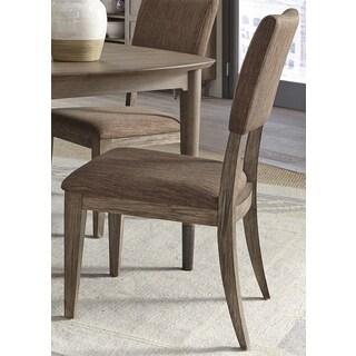 Miramar Mid-Century Modern Pine Upholstered Side Chair