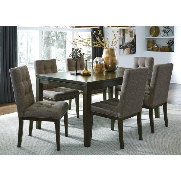 7 piece dinette set dining chairs overstock belden place coffee bean contemporary piece dinette set free