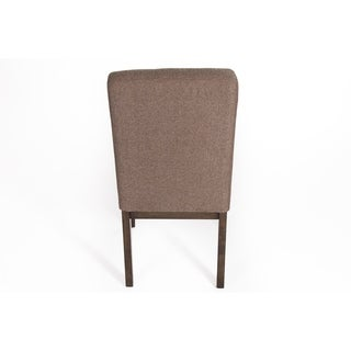 Belden Place Upholstered Taupe Chenille Parson Chair