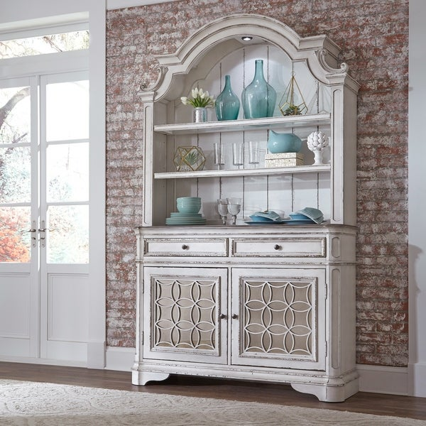 Shop Magnolia Manor Antique White Buffet And Hutch On