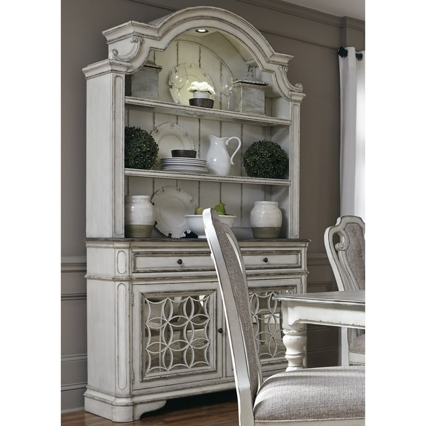 Shop Magnolia Manor Antique White Buffet And Hutch On Sale Free