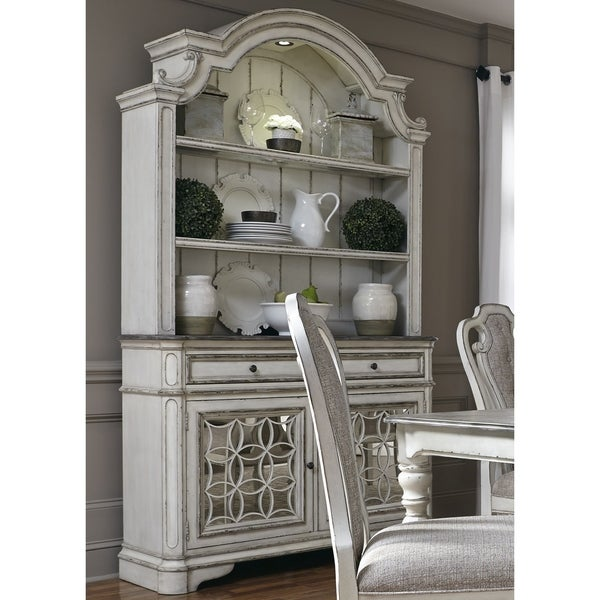 Magnolia Manor Antique White Buffet and Hutch - Magnolia Manor Antique White Buffet And Hutch - Free Shipping Today