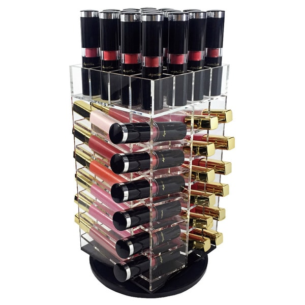 Acrylic Makeup Organizer Spinning Lipstick Holder and Storage Tower - Clear. Opens flyout.