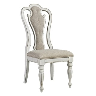 Magnolia Manor Antique White Upholstered Side Chair