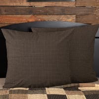 Black Primitive Bedding VHC Kettle Grove Euro Sham Cotton Plaid