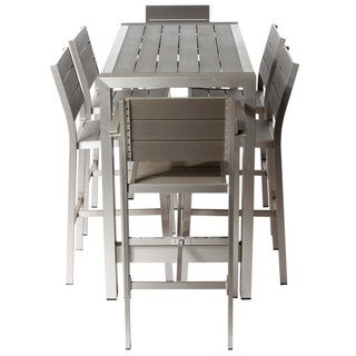 Link to Logan 7-piece Aluminum and Plastic Bar Set by Havenside Home Similar Items in Patio Furniture