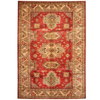 Handmade One-of-a-Kind Super Kazak Wool Rug (Afghanistan) - 5'9 x 8'2
