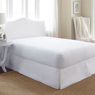 Ultra Soft Hypoallergenic Waterproof BedBug Mattress Encasement Protector - White