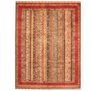 Handmade Herat Oriental Afghan Tribal Super Kazak Wool Rug - 5'10 x 7'6 (Afghanistan)